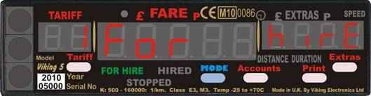 The Viking 5 Taxi Meter